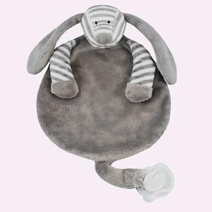 funnies speendoek gestreepte hond grijs