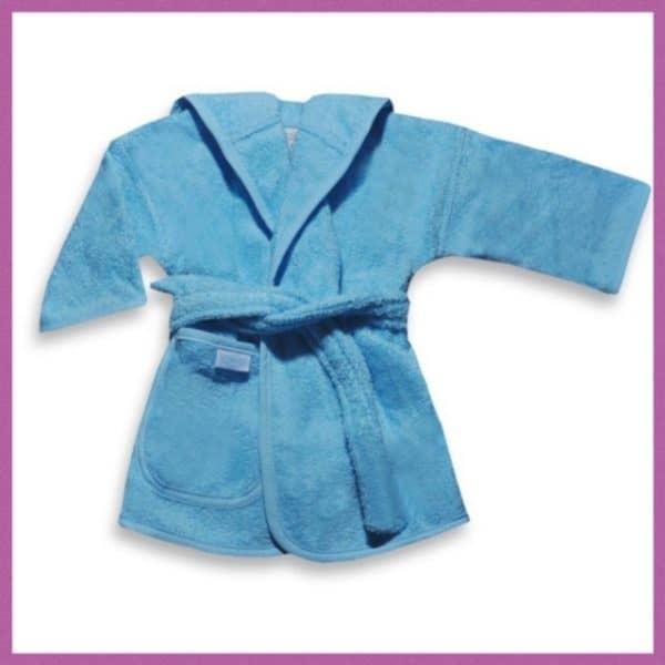 Baby badjas licht blauw