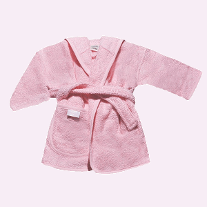 Baby badjas licht roze