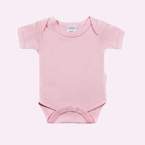 Baby rompertje licht roze met korte mouwen