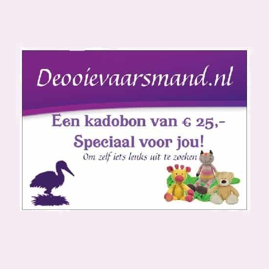 Kadobon van 25 euro voor een kraamkado
