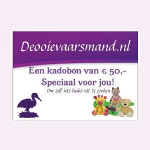 Kadobon van 50 euro voor een kraamkado