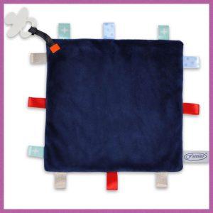 Funnies label speendoek donker blauw