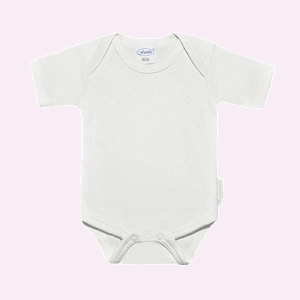 Baby rompertje creme met korte mouwen