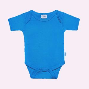 Baby rompertje turquoise met korte mouwen