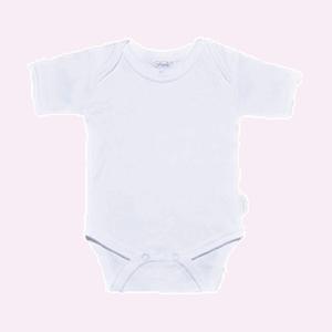 Baby rompertje wit met korte mouwen