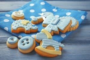 koekjes voor een jongen baby shower