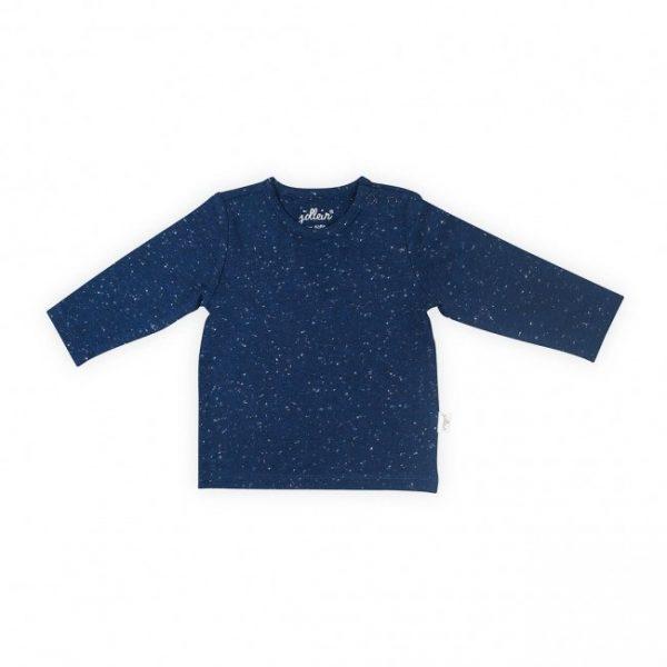 shirt jollein speckled blue voorkant