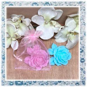 rozen met blad van zeep