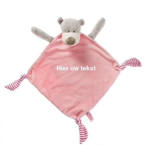 Grote Knuffeldoek beer met naam
