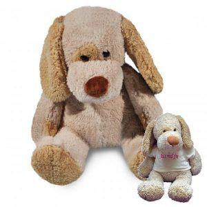 Knuffel Hond met naam borduring 23,50 - geen verzendkosten