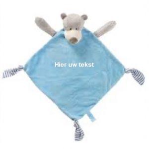 Knuffeldoek beer met naam