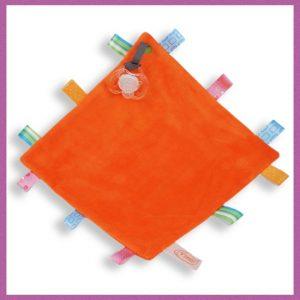 funnies label speendoek oranje