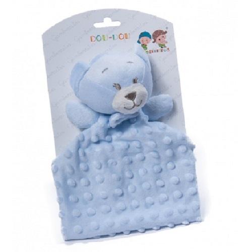 Gamberritos knuffeldoekje teddybeer blauw