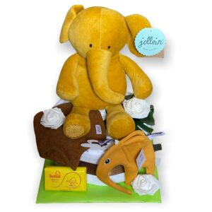 Baby Luiertaart Elephant Mustard