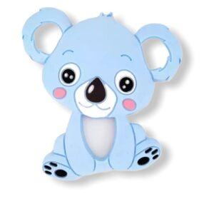 Baby bijtring siliconen koala blauw