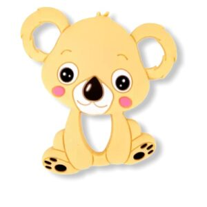 Baby bijtring siliconen koala licht bruin