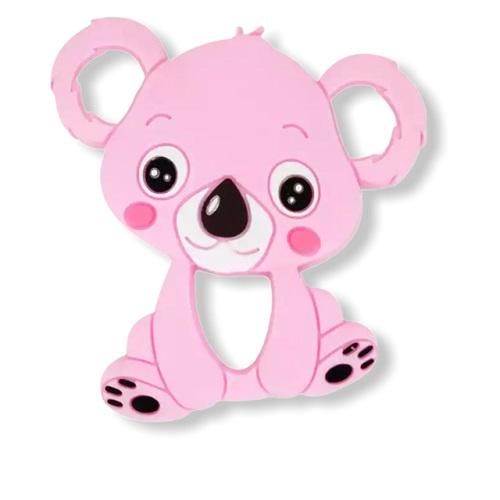 Baby bijtring siliconen koala roze